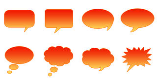 Speech Bubbles. Set Glossy Colourful Speech BubbIe Icons, Internet Web Page Navigation Symbols Vector Illustration