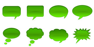 Speech Bubbles. Set Glossy Colourful Speech Bubble Icons, Internet Web Page Navigation Symbols Stock Illustration