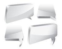 Speech Bubbles 3D. 3D Speech And Thought Bubbles With Space For Text Royalty Free Stock Photography