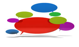 Speech bubbles in 3d Stock Image