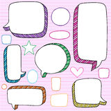 Speech Bubbles 3D Notebook Doodles Vector Set Royalty Free Stock Images