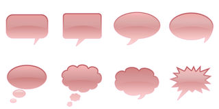 Speech Bubbles. Set Glossy Colourful Speech Bubble Icons, Comic Symbols Vector Illustration
