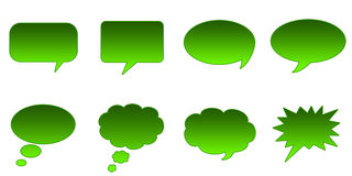 Speech Bubbles. Set Glossy Colourful Speech Bubble Icons, Comic Symbols Royalty Free Illustration