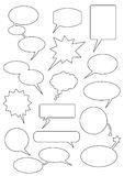 Speech_bubbles. Speech bubbles any forms for text Stock Illustration