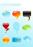 Speech-bubbles. Collection of nine different glossy spech-bubbles - vector illustration Royalty Free Stock Photography