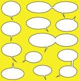Speech Bubbles. Lots of speech bubbles for your comics stock illustration