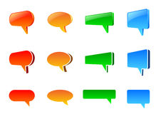 Speech bubbles. Vector set of Colorful speech bubbles Royalty Free Stock Photo