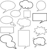 SPEECH BUBBLES. Any forms for text Royalty Free Stock Photos