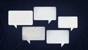 Speech bubbles animation motion graphic for presentation templete. paper texture style. stock illustration