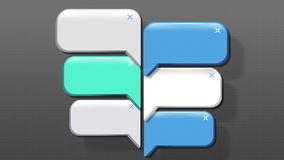 Speech bubbles animation motion graphic for presentation templete. style 4 stock video