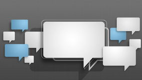 Speech bubbles animation motion graphic for presentation templete. style 7 vector illustration