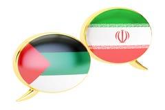 Speech bubbles, Arabian-Iranian conversation concept. 3D. Speech bubbles, Arabian-Iranian conversation concept Royalty Free Stock Photography