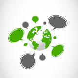 Speech bubbles around the world Stock Photo