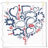 Speech Bubbles,arrow composition.Doodle sketchy Stock Photo