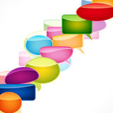 Speech bubbles background. Stock Images