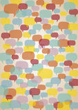 Speech bubbles background Stock Images