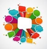 Speech bubbles background Royalty Free Stock Photos