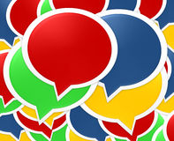 Speech Bubbles background Royalty Free Stock Images