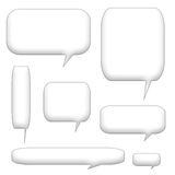 Speech bubbles and balloons Royalty Free Stock Image