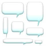 Speech bubbles and balloons Stock Images