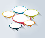 Speech bubbles banner, template. Business color vector. Stock Image