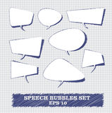 Speech Bubbles & Banners. Speech Bubbles drawing wiith blue pen Stock Photography