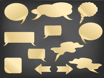 Speech bubbles on blackboard Royalty Free Stock Image