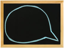 Speech bubbles on blackboard Stock Image