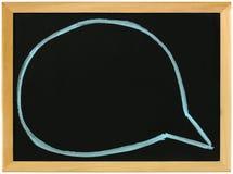 Speech bubbles on blackboard Stock Image