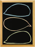 Speech bubbles on blackboard Stock Photography