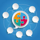 Speech Bubbles Blue Sky Circle Puzzle royalty free illustration