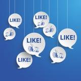 Speech Bubbles Blue Sky Likes Royalty Free Stock Photos