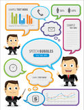 Speech bubbles with businessman Stock Photo