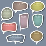 Speech bubbles with calligraphic elements stock illustration