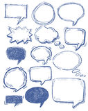 Speech bubbles on chalkboard Royalty Free Stock Photos