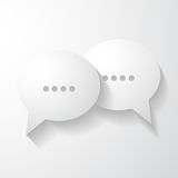 Speech bubbles chat icon Royalty Free Stock Image