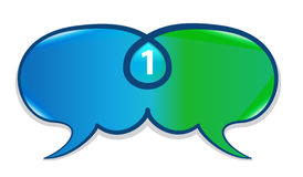 Speech bubbles chat union Stock Image