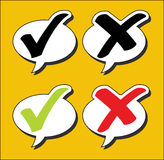 Speech bubbles check Royalty Free Stock Images