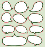 Speech bubbles chistmas set Royalty Free Stock Photo