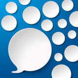 Speech Bubbles With Circles Blue Background Royalty Free Stock Images