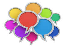 Speech bubbles (clipping path included) Stock Photography