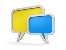Speech bubbles (clipping path included) Stock Images