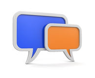 Speech bubbles (clipping path included) Stock Photo