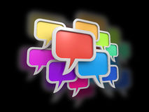 Speech bubbles (clipping path included) Royalty Free Stock Photo