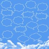 Speech bubbles cloud shape Royalty Free Stock Photography