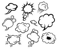 Speech bubbles and clouds Royalty Free Stock Photo