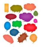 Speech bubbles collection Royalty Free Stock Images