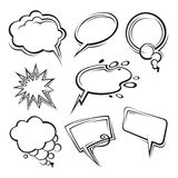 Speech bubbles collection Stock Images