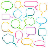 Speech bubbles collection Royalty Free Stock Photo