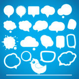 Speech bubbles collection Royalty Free Stock Photography